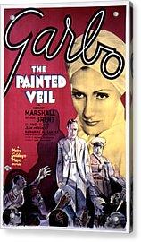 The Painted Veil, Greta Garbo, 1934 Acrylic Print by Everett