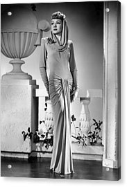 The Palm Beach Story, Claudette Acrylic Print by Everett