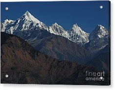 Acrylic Print featuring the photograph The Panchchuli Range by Fotosas Photography