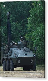 The Pandur Recce Vehicle In Use Acrylic Print by Luc De Jaeger