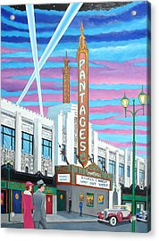 The Pantages Theatre Acrylic Print