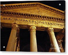 The Pantheon At Night Acrylic Print by Kent Nickell
