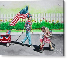 The Parade Acrylic Print by Parker Jim