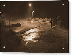 The Park At Night Acrylic Print by Artist Orange