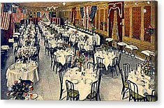 The Park Avenue Hotel Banquet Hall In 1910 Acrylic Print by Dwight Goss