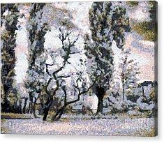 The Park Acrylic Print by Odon Czintos
