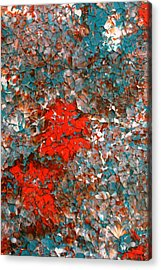The Part Of A Flower Acrylic Print by James Mancini Heath