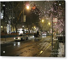 Acrylic Print featuring the photograph The Past Meets The Present In Chicago Il by Ausra Huntington nee Paulauskaite
