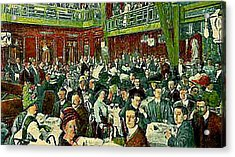 The Peking Restaurant In New York City In 1913   Acrylic Print by Dwight Goss