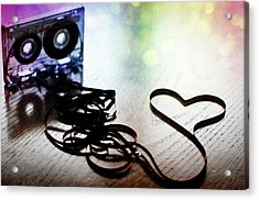 The Perfect Mix Tape Acrylic Print by Created by Tafari K. Stevenson-Howard