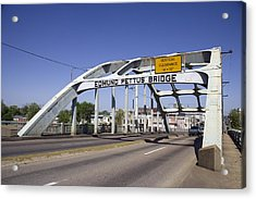 The Pettus Bridge In Selma Alabama Acrylic Print by Everett