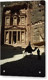 The Pharaohs Treasury Or Khazneh Acrylic Print by James L. Stanfield