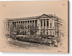 The Philadelphia Free Library Acrylic Print by Bill Cannon