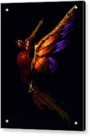 Acrylic Print featuring the digital art The Phoenix Rising... by Tim Fillingim