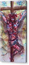 The Physical Death Of Jesus Acrylic Print by Thomas Lentz