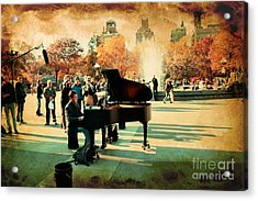 The Piano Man Acrylic Print by Ken Marsh