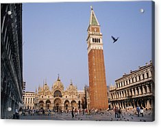 The Piazza San Marco Is The Focal Point Acrylic Print by O. Louis Mazzatenta