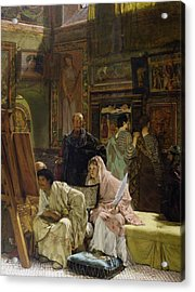 The Picture Gallery Acrylic Print by Sir Lawrence Alma-Tadema