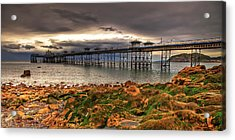 The Pier Acrylic Print by Adrian Evans