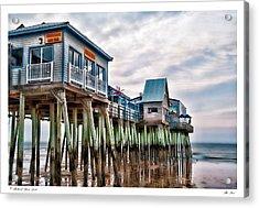 The Pier Acrylic Print by Richard Bean