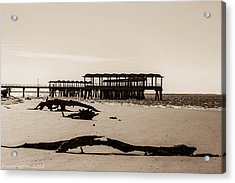 Acrylic Print featuring the photograph The Pier by Shannon Harrington