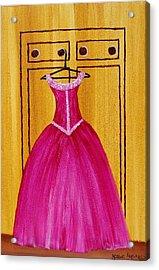 The Pink Dress 4535 Acrylic Print by Jessie Meier