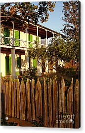 Acrylic Print featuring the photograph The Pitot House With Wood Fence by Jeanne  Woods
