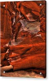 The Place Where Water Runs Through Rocks Acrylic Print by Darryl Gallegos