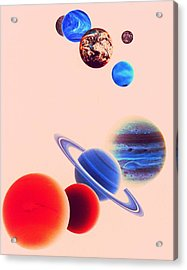 The Planets, Excluding Pluto Acrylic Print by Digital Vision.