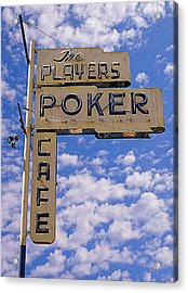 The Players Poker Cafe Acrylic Print by Ron Regalado