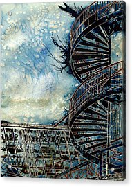 The Point Of Steps Acrylic Print by Cathy S R Read