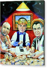 The Poker Game Acrylic Print by Hanne Lore Koehler