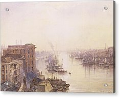 The Pool From The Adelaide Hotel London Bridge Acrylic Print by William Wyld