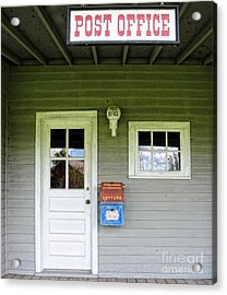 The Post Office Acrylic Print by Paul Ward