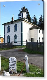The Potter School House . Bodega Bay . Town Of Bodega . California . 7d12473 Acrylic Print by Wingsdomain Art and Photography