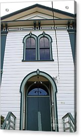 The Potter School House . Bodega Bay . Town Of Bodega . California . 7d12480 Acrylic Print by Wingsdomain Art and Photography