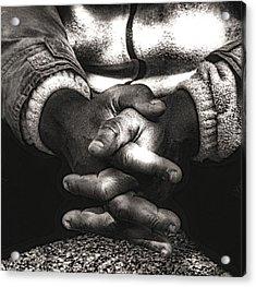 The Prayer Acrylic Print by Kenneth Mucke