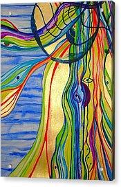 The Psychedelic Jellyfish Acrylic Print by Erika Swartzkopf