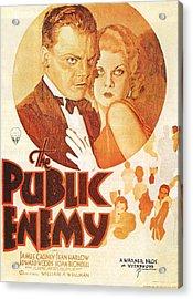 The Public Enemy Acrylic Print by Georgia Fowler