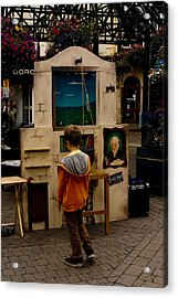 The Puppet Show Acrylic Print by Peter Jenkins