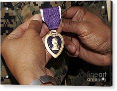 The Purple Heart Award Acrylic Print by Stocktrek Images