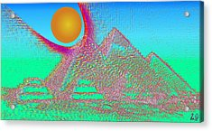 The Pyramids Acrylic Print by Helmut Rottler