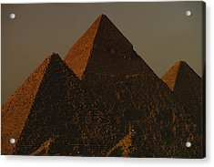 The Pyramids Of Giza In The Late Acrylic Print by Kenneth Garrett