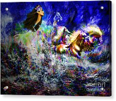 The Queen In Southern Sea Acrylic Print by Vidka Art