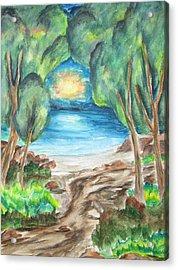 The Quiet Ocean -wcs Acrylic Print by Cheryl Pettigrew