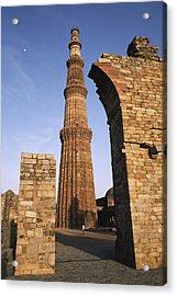 The Qutab Minar Tower, Built Acrylic Print by Gordon Wiltsie