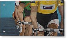 The Race Acrylic Print by Jennifer Lynch