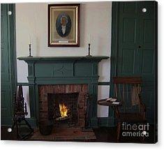 The Rankin Home Fireplace Acrylic Print by Charles Robinson