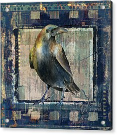 The Raven Mixed Media by Arline Wagner