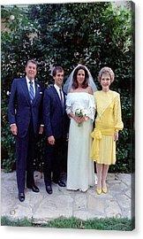 The Reagan Family At Patti Daviss Acrylic Print by Everett